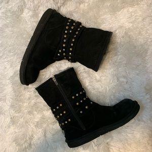 Ugg Sz 10 Black Clovis Boots w/Metal Studs